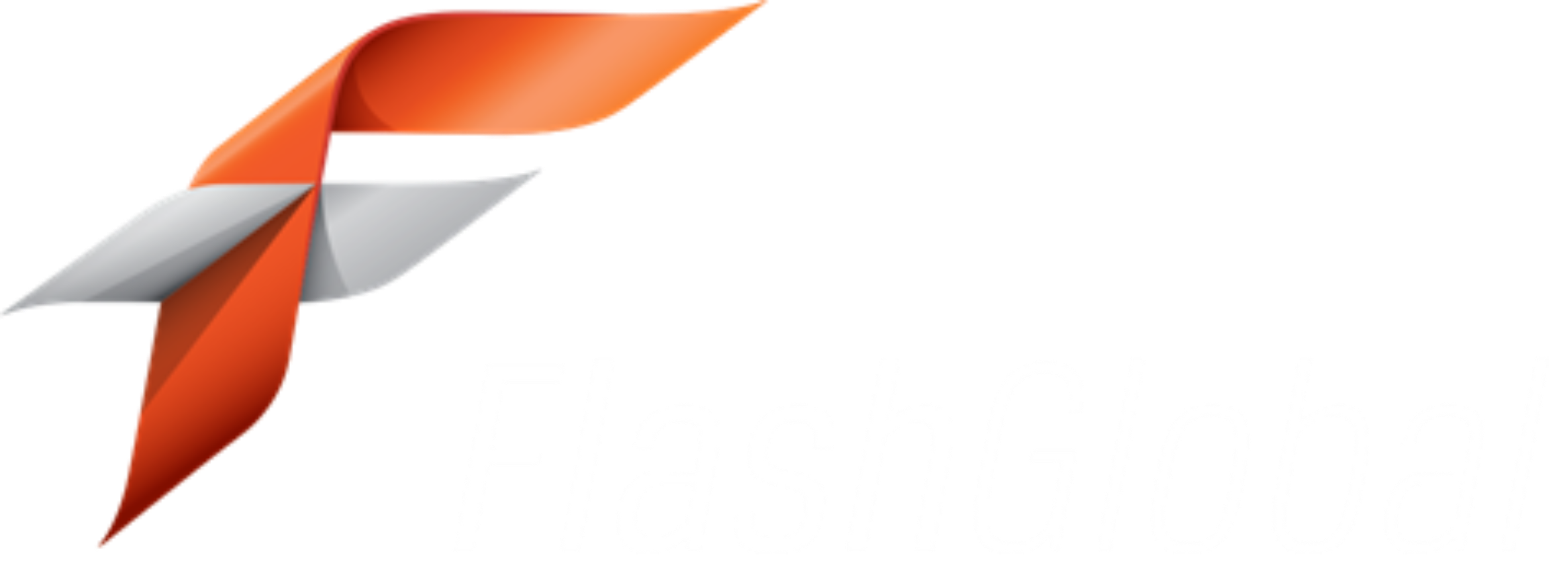 Flash Global Logo - White